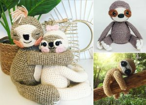 Sloth in the Jungle Amigurumi with Crochet Pattern