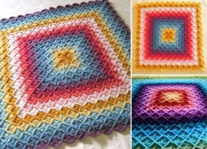 Bavarian Stitch Crochet Blankets Free Patterns