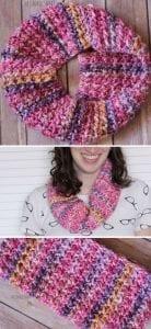Even Moss Stitch Cowl Free Crochet Pattern