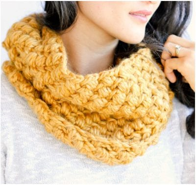 bean stitch cowl free pattern