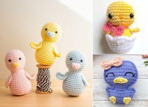 Cute Easter Amigurumi Chicks and Ducks