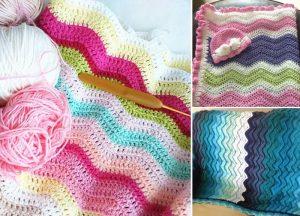 Ocean Waves Crochet Throws