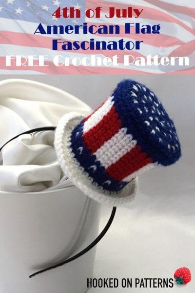 crochet free pattern american flag mini hat