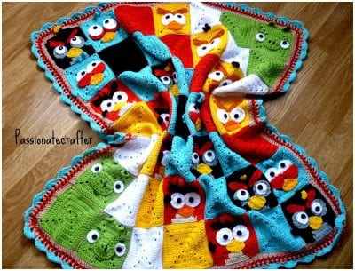 angry birds baby blanket free crochet pattern