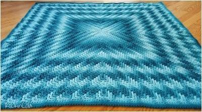 Afghan crochet block free pattern