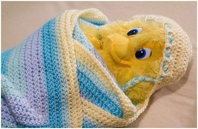 BABY HOODIE crochet BLANKET