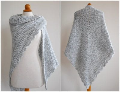BEGINNER TRIANGLE SHAWL free pattern