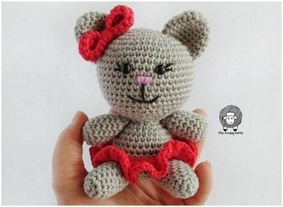Clawdia Cat is a sweet little crochet cat 5""