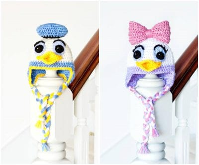 DAISY Donald DUCK BABY HAT CROCHET PATTERN