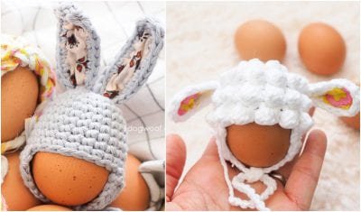 Decorative Easter Egg Mini Hat free crochet pattern