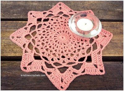 Eight Point Doily Free Crochet Pattern