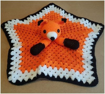 free crochet pattern for blanket foxy