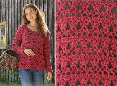 crochet free pattern sweater