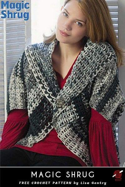 magic shrug crochet free pattern