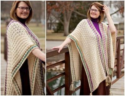 Many Wonders Ruana by Tonya Bush free crochet pattern