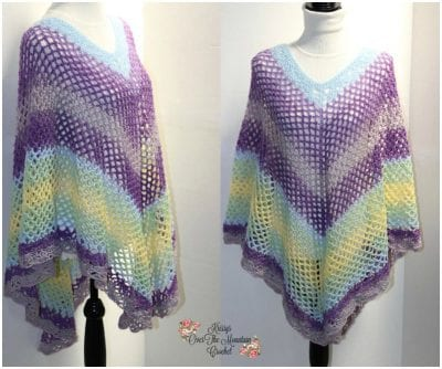 Mesh Over Brook Poncho free pattern