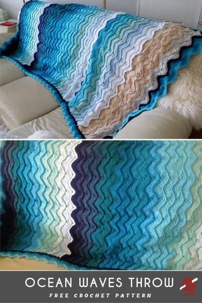 Ocean Waves Throw free pattern