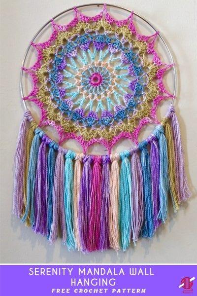 Serenity Mandala Wall Hanging Crochet Pattern
