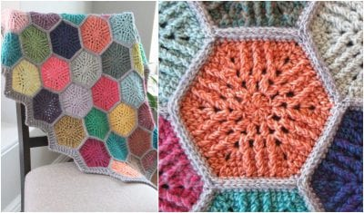 Sunbeam Hexagon Motif by Shelly Diaz crochet free pattern