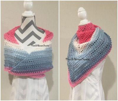 Neck Torso Shawl crochet Wrap with free pattern for spring season