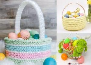 Cute Easter Crochet Baskets
