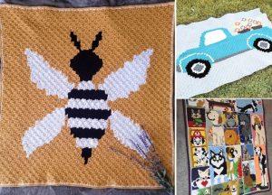 Fun And Cute C2C Animal Crochet Blankets