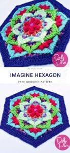 Imagine Hexagon Free Crochet Pattern