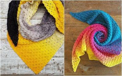 beautiful My Voyage crochet Shawl with free pattern