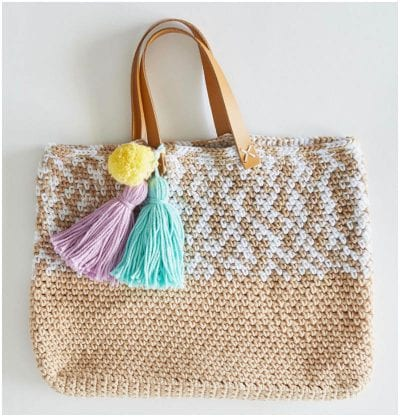 Great Crocheted Beach Tote Free Pattern