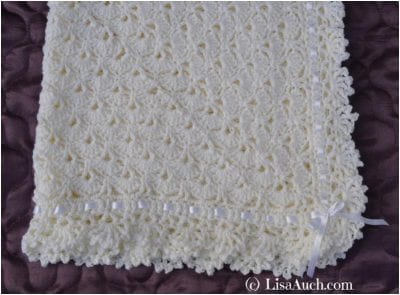 Cute Crocheted Baby Blanket and Shawl Free Pattern