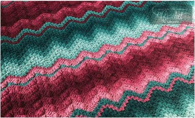 Beautiful Textured Stitches Crochet Blanket Free Pattern