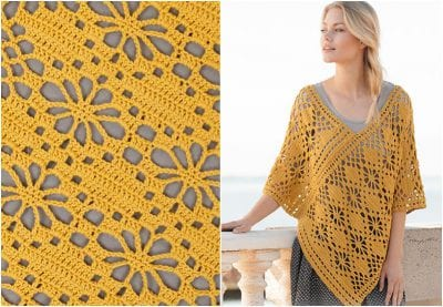 The Great Crocheted Summer Butterfly Poncho Free Pattern