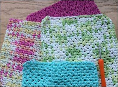 The EasyCrocheted Dishcloth Free Pattern