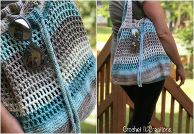 Cute Crocheted Summer Tote Free Pattern