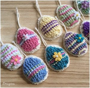 The Easy Egg Motif Crocheted Free Pattern