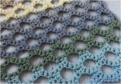 Awesome Crocheted Honeycomb Stitch Free Pattern