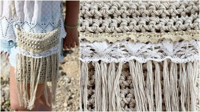Crochet Fringe Crossbody Bag - Free Patterns