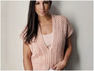 The Easy Sleeveless Top Spring Crocheted Free Pattern