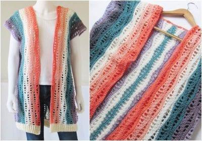 Beautiful Spring Crocheted Kimono Free Pattern