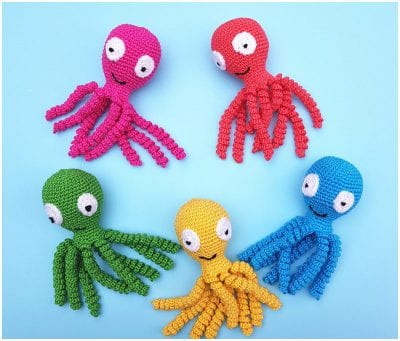 The Octopus Softies Easy Crocheted for beginners Free Pattern