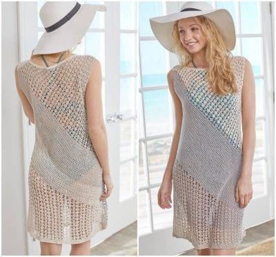 Cute Shore Crocheted Dress Free Pattern