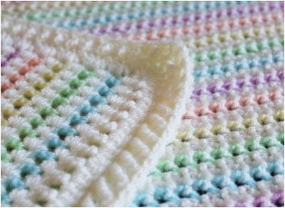 Cute Spring Crocheted Baby Blanket Free Pattern