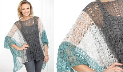 the free pattern shows how to easy and fast make this stunning #summer #poncho