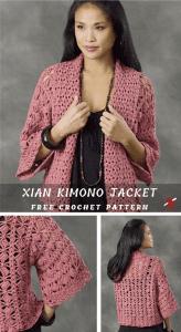 Smartly and Stylish Crocheted Jacket Free Pattern