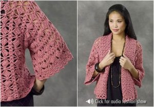 Smartly and Stylish Crocheted Jacket Free Pattern
