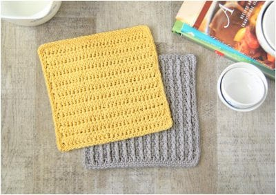 Easy and Useful Crocheted Washcloth Free Pattern made with a beautiful texture and reversible design.