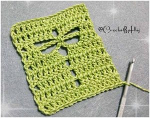Beginners friendly Crocheted Dragonfly Stitch with Free Pattern and Tutorial.