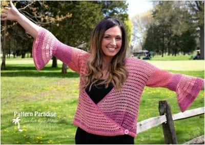 Stunning Crocheted Lady Cardigan Free Pattern