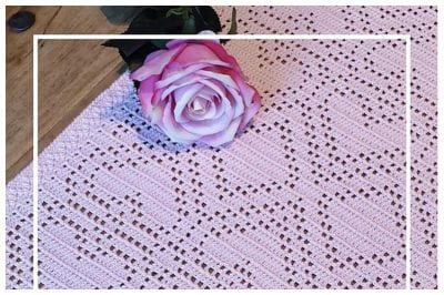 Classic and Elegant Crocheted Tablecloth Free Pattern with made a modern touch.