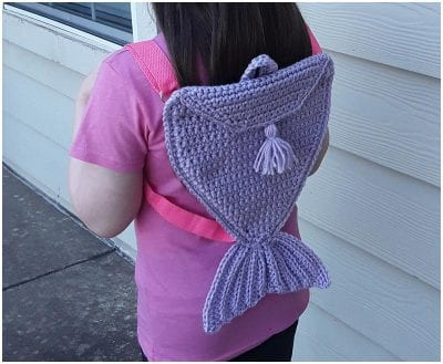 Pretty Cool Crocheted Backpack for Girls Free Pattern